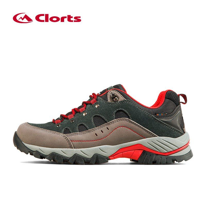 Clorts Trekking Shoes for Men Waterproof Hiking Shoes Suede