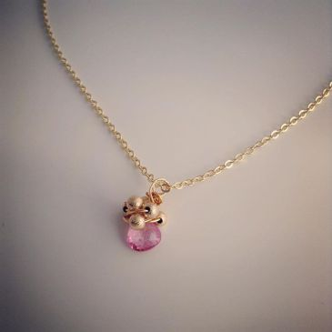 Pink Topaz Bacchus Necklace by Lily Flo Jewellery