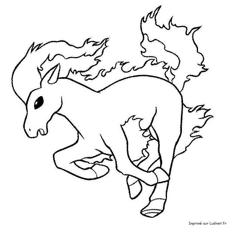 Ponyta Pokemon Coloring PagesColoring
