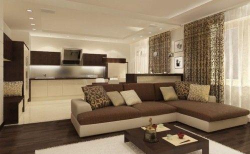 Salones minimalistas pintura marrones ideas casa pinterest - Salones minimalistas ...