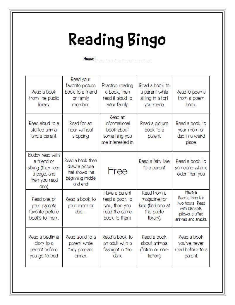 Reading Bingo Pdf Google Drive Reading Incentives Reading Motivation Reading Bingo
