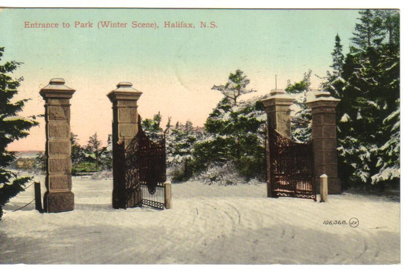 1917 Entrance TO Park IN Winter Halifax N S THE Valentine AMP SON 039 S 10019 | eBay