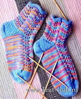 Вязание носков спицами 16-ю способами