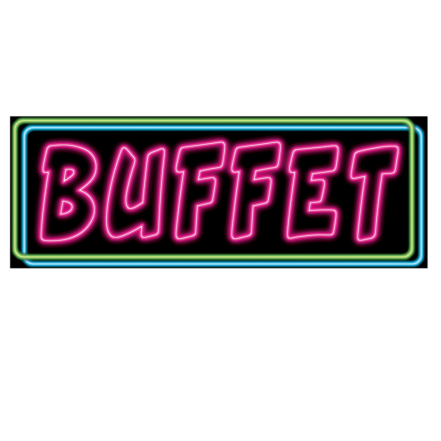 Neon Buffet Sign (Pack of 24) Casino night, Casino party