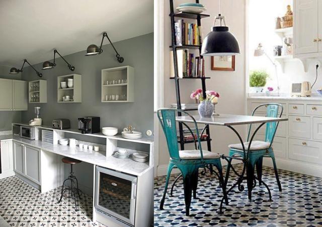 inspirations pour un sol en carreaux de ciment carreaux. Black Bedroom Furniture Sets. Home Design Ideas