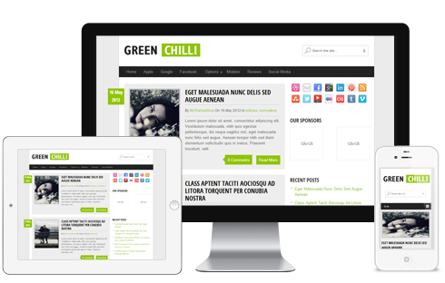 GreenChili A Free Clean Traditional Blog Style Responsive WordPress ...