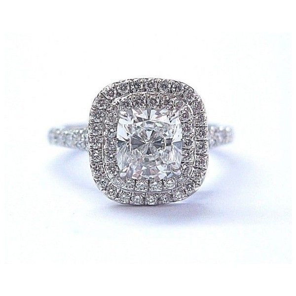 67426a078 Platinum 1.35Ct Diamond Soleste Ring Size 4 ($17,500) ❤ liked on Polyvore  featuring jewelry, rings, round engagement rings, diamond band ring, ...