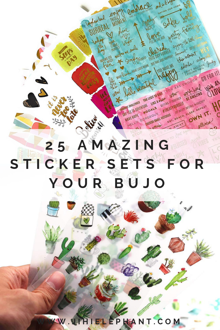 25 Amazing Bullet Journal Stickers from Amazon and Etsy | ElizabethJournals