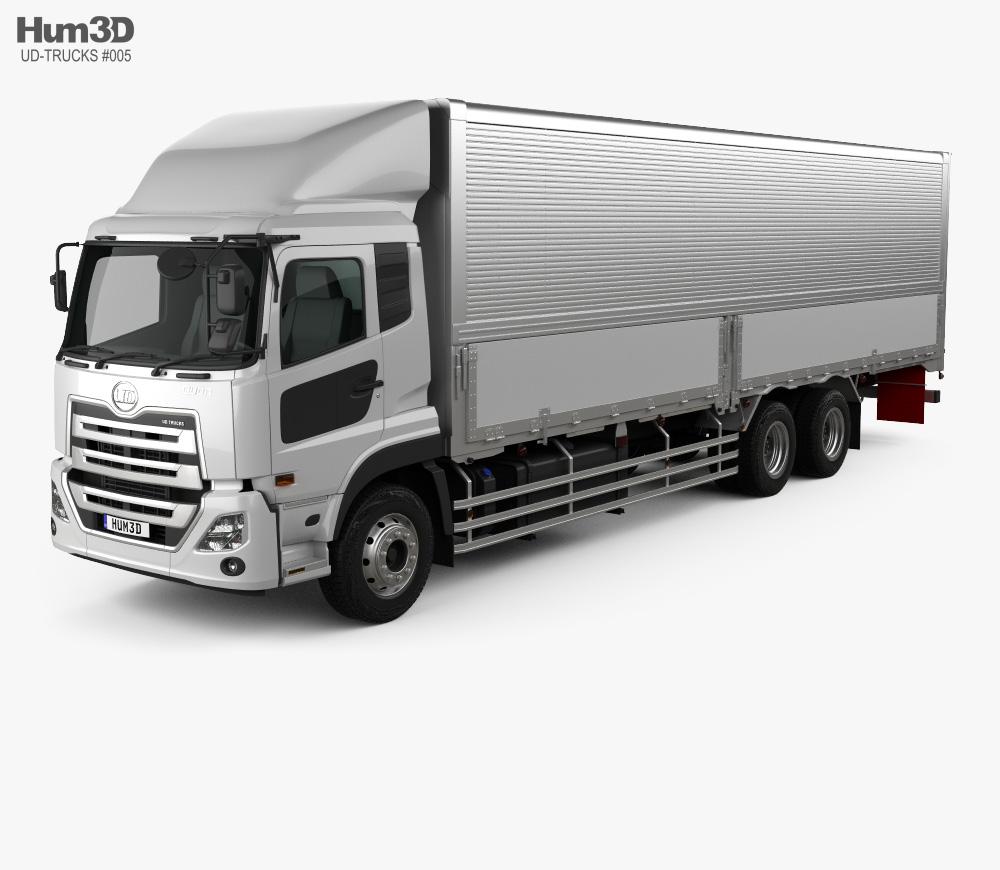 3d Model Of Ud Trucks Quon Gw Quester Box Truck 2019 3d Model Portfolio Template Design Trucks
