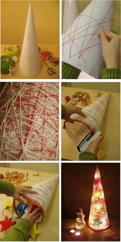 handmade christmas tree tutorial christmas lights