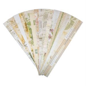 POCKET VINTAGE Border Strips by Katie Pertiet are cut perfectly for fit Our Memories for Life Pocket Pages. $11 for a set of 30 designs.