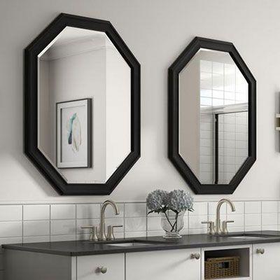 bathroom mirrors bath the home depot home bathroom mirror rh pinterest com custom cut mirrors home depot