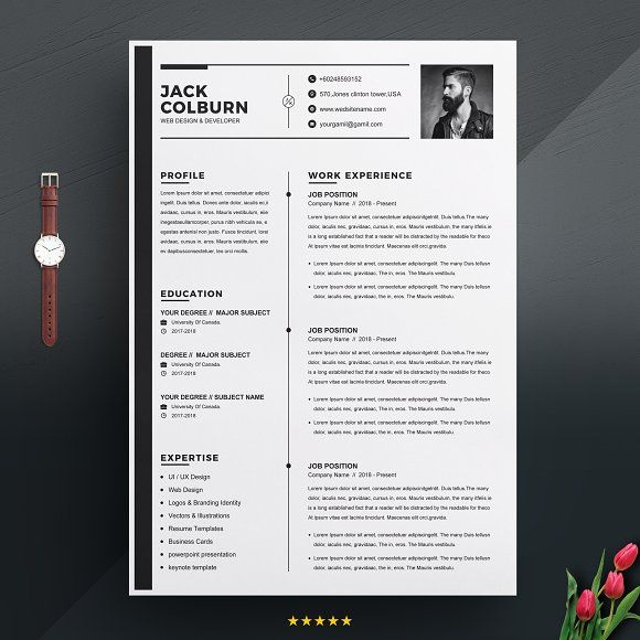 curriculum vitae   cv resume template by graphicsauthor