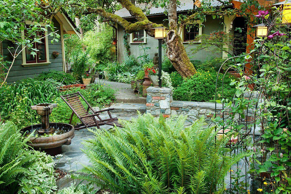 Garden magic gardens jardines helechos y jardiner a for Jardineria al aire libre casa pendiente