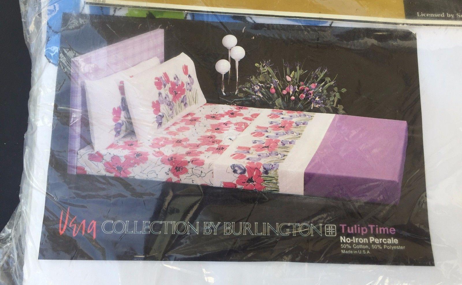 Details About Vtg Vera Collection Burlington Full Flat Sheet