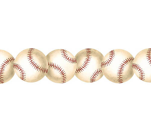 The Realistic Appearance Of The Baseball Border Makes It A Great Decor  Choice For A Bedroom, ...