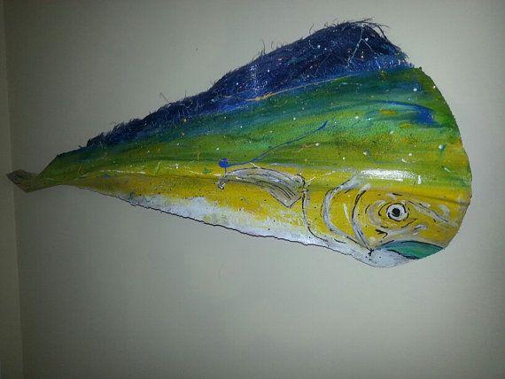 Mahi Mahi Palm Frond Fish 22 By Hwalkmanoriginals On Etsy Palm Frond Art Palm Fronds Palm Tree Art