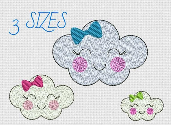 Embroidery design Cloud Machine Embroidery Cloud Pattern ...