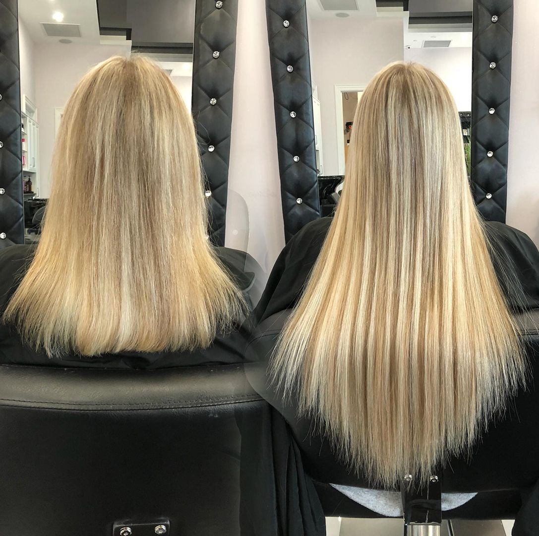 Before and After Hair Extensions • Specializing in Fusion