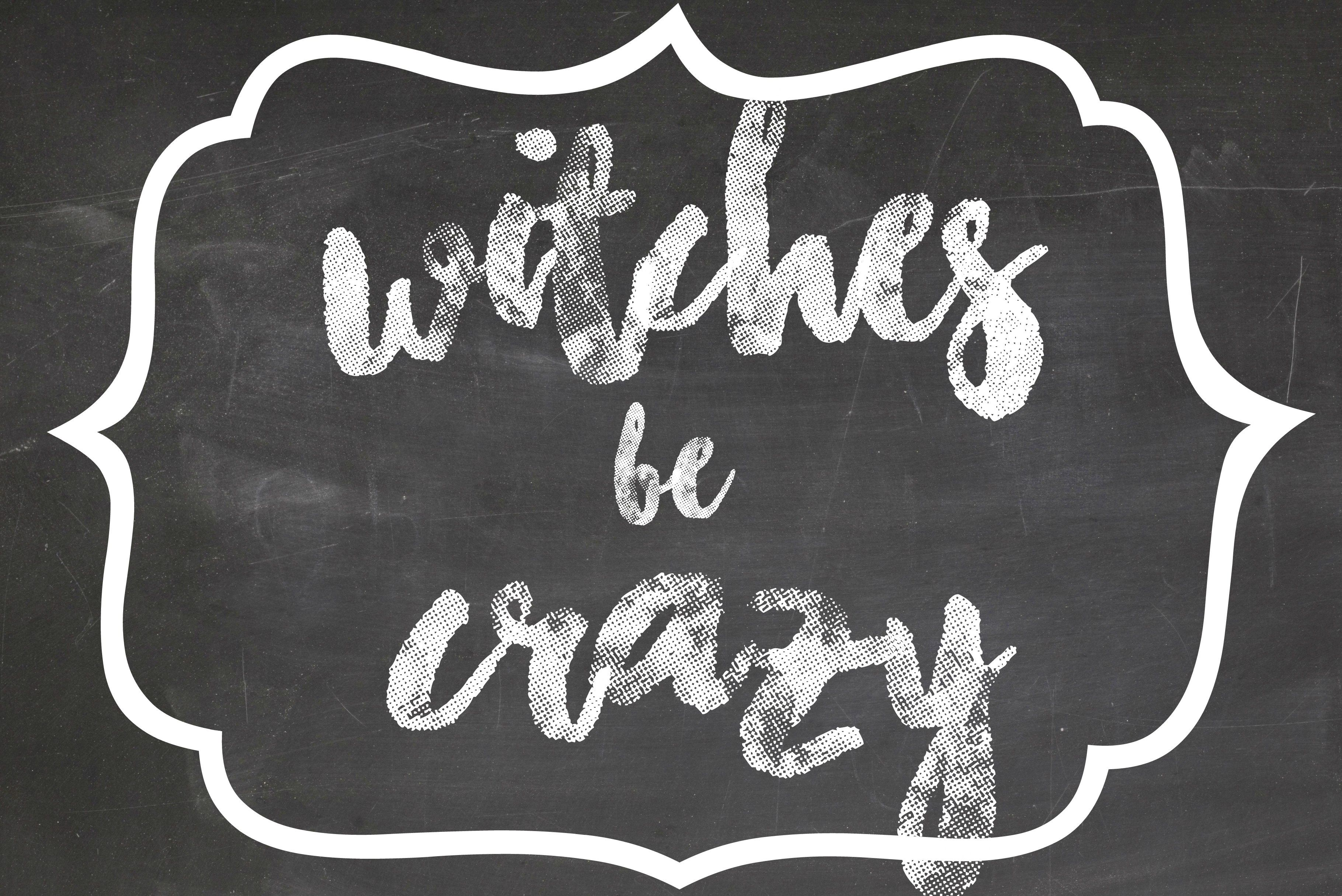 Witches Be Crazy Free Halloween Printable
