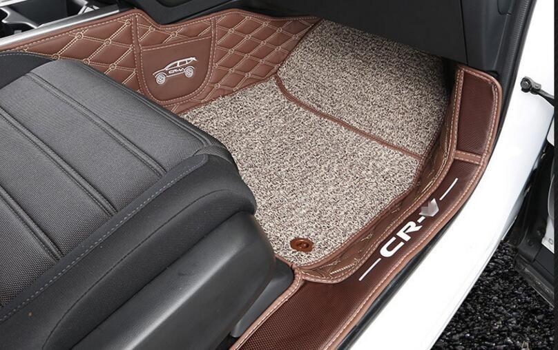 Brown Car Floor Mats Custom Fit For Honda Crv 2017 Car Styling Auto Floor Mat Car Accessory Carpet Cover Honda Crv