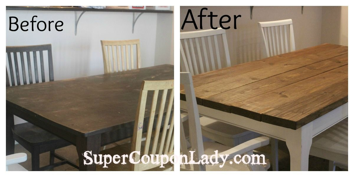 Diy Project Refinishing Dining Room Table Chairs Super Coupon Lady Decor