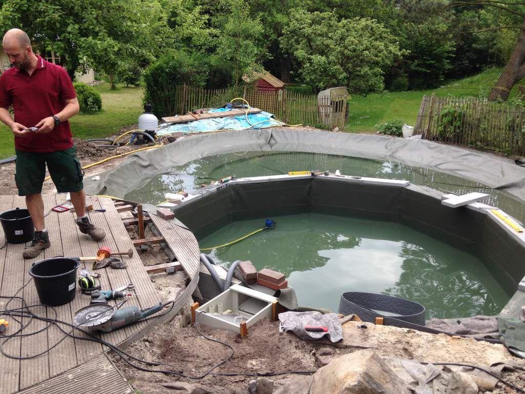 Vom Pool Zum Schwimmteich Mit Husmann Gartenbau Schwimmteich Schwimmen Pool