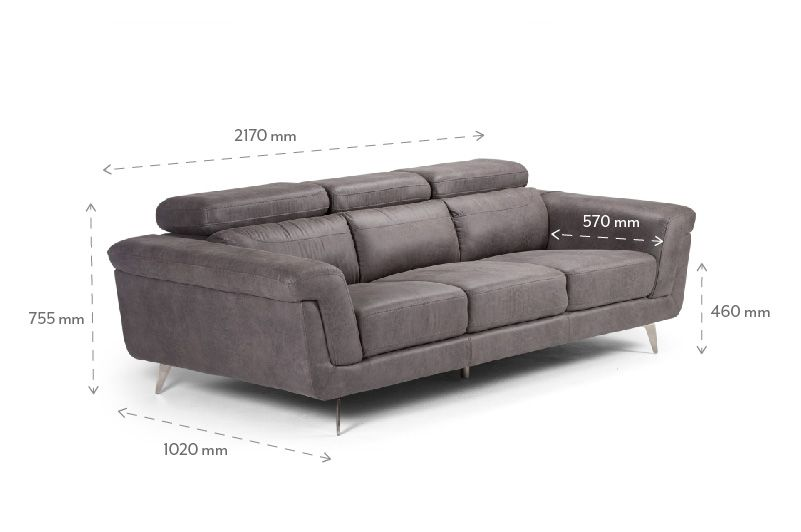 Damian Mercury Three Seater Couch Fabric Couches Couch Fabric Three Seater Couch