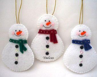 Christmas Felt Ornaments Felt Christmas Rudolph the by ynelcas