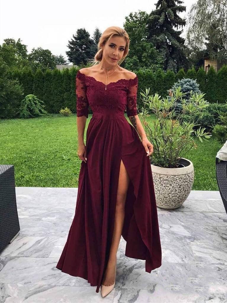 Photo of Unique Prom Dresses, 2020 Elegant Sheath/Column Off-The-Shou…