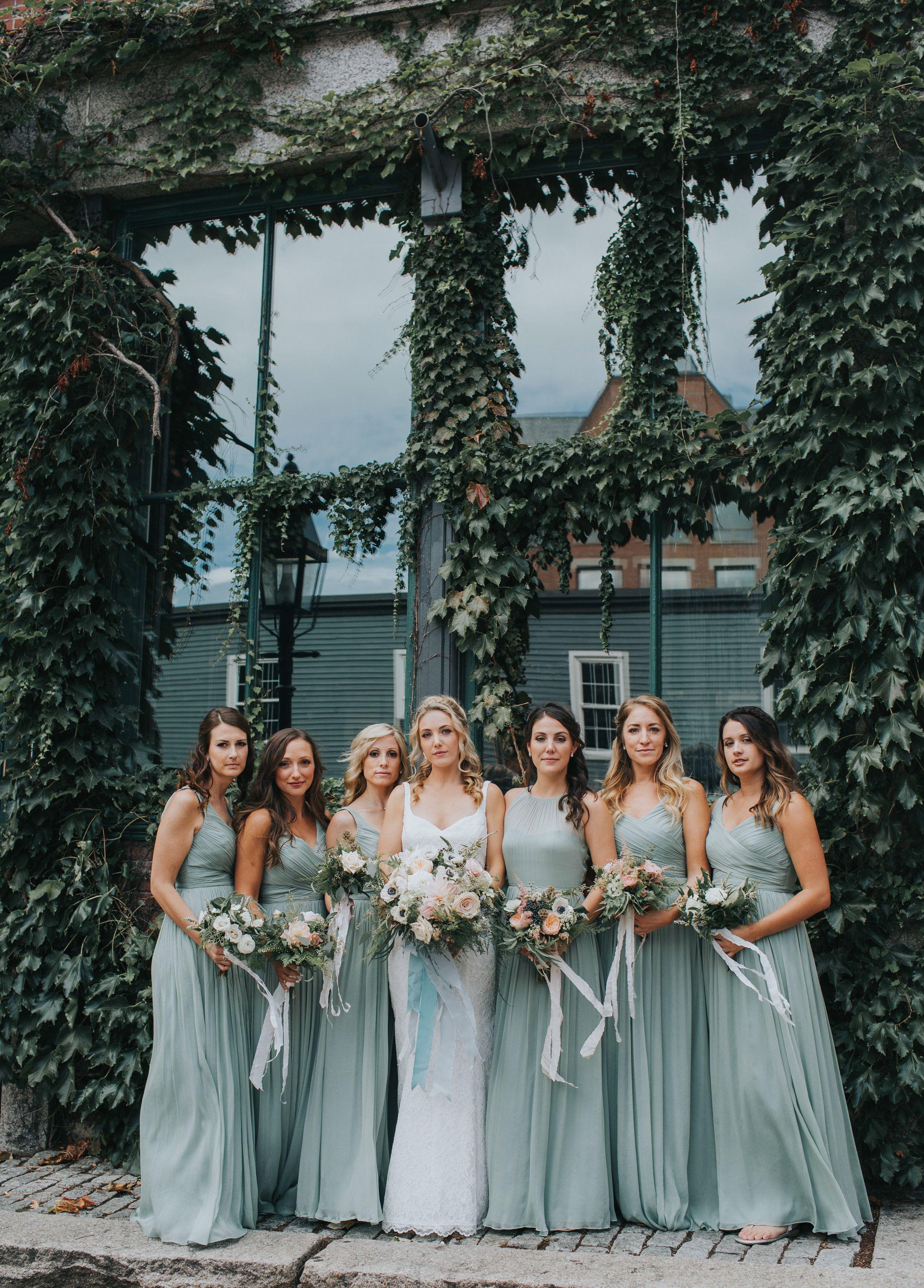 Bridesmaids In Downtown Portland Maine Wedding Photography Maine Wedding Photographer Wedding Photography