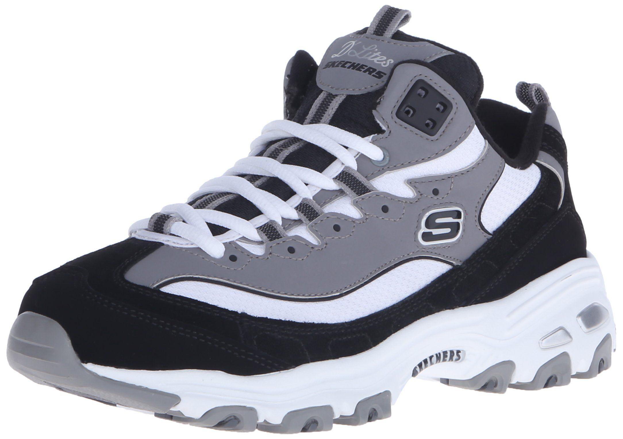 3efe678a0a50 Skechers Sport Women s D Lites Memory Foam Lace-Up Sneaker