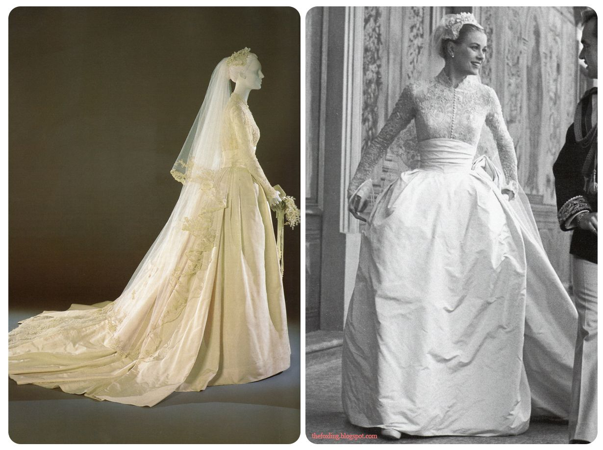 Here Is The Original Design For Wedding Dress And Photo Of Designer Helen Rose Working On Grace's Mannequin: Wedding Dress Helen Rose At Reisefeber.org