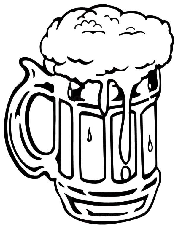 Beer Drawing Coloring Pages Beer Bottle Drawing