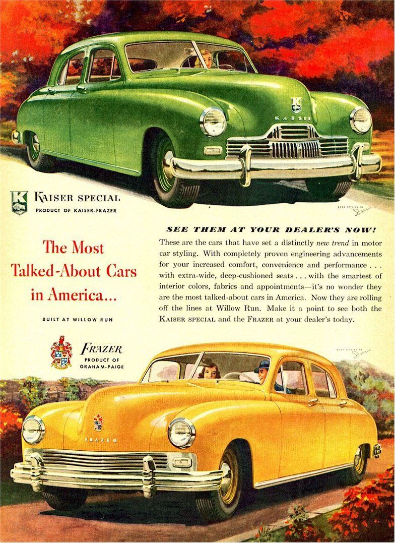 The 1947 Kaiser Special and the 1947 Frazer: \