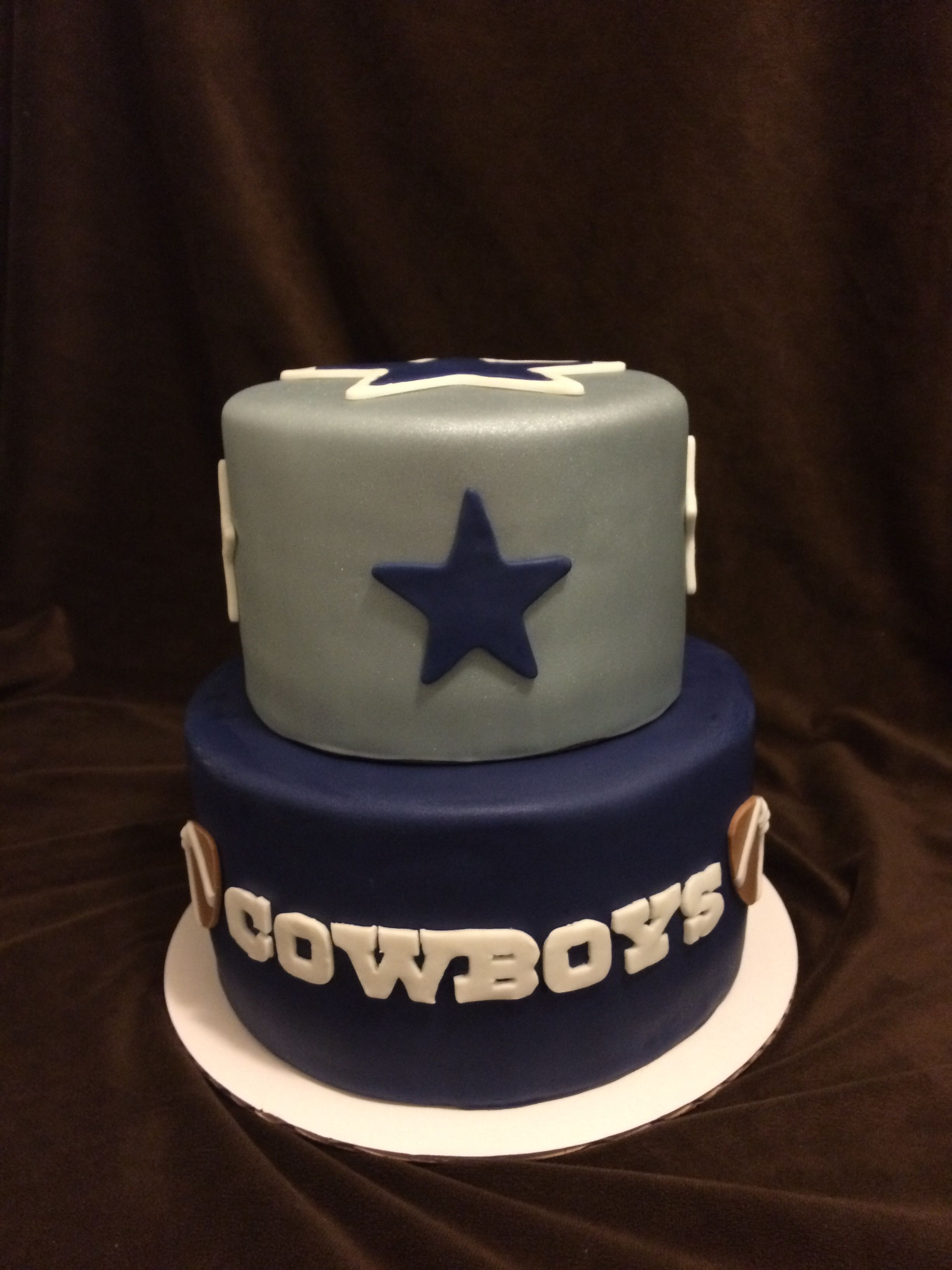 2 Tier Dallas Cowboys Cake Our Cakes Pinterest Dallas Cowboys