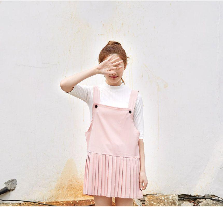 icecream12 Pleated Mini Jumper Dress | YESSTYLE