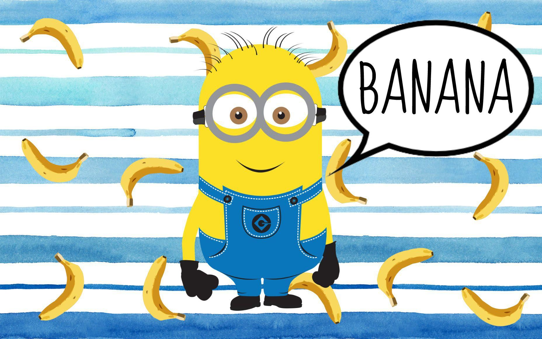 Free Drag And Drop Wallpapers Minions Bananas Desktop Wallpaper