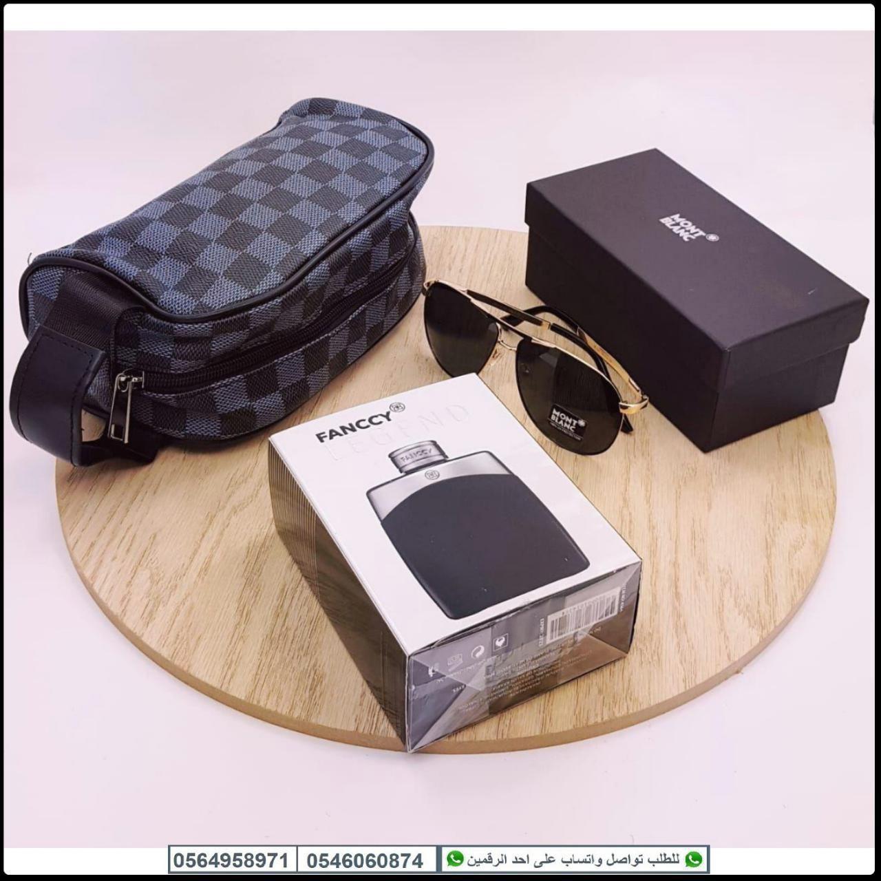 نظارات شمسية 2019 عرض جديد نظارة مونت بلانك مع عطر و شنطة يد Camera Bag Electronic Products Bags