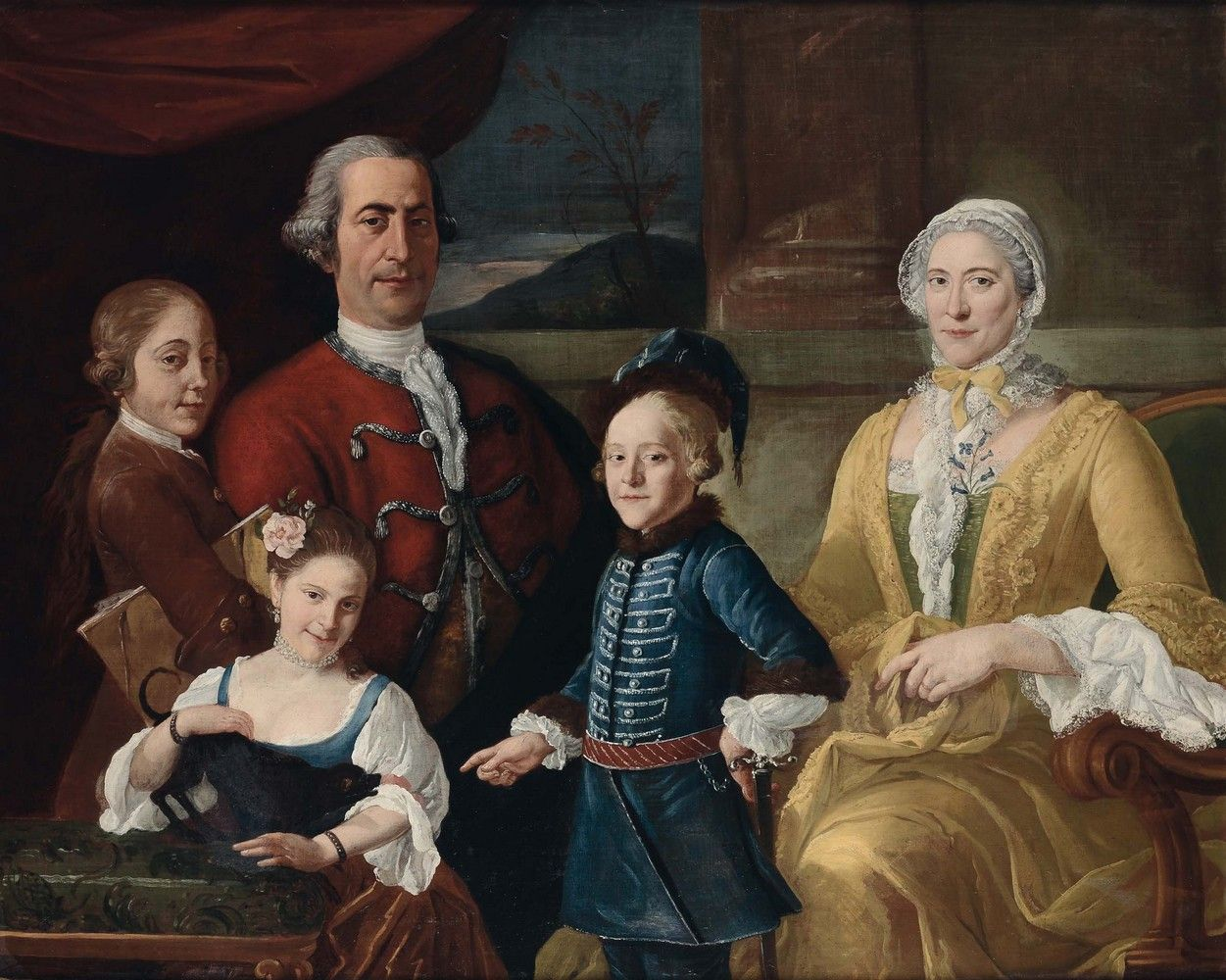 Attributed to Sebastiano Ceccarini (1703-1783) — Portrait of a  Family  (1251x1000)