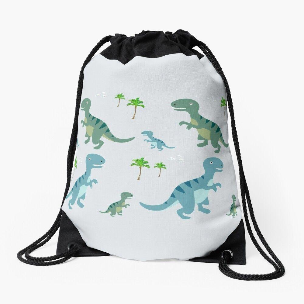 Drawstring Backpack Dinosaurs Pattern Rucksack