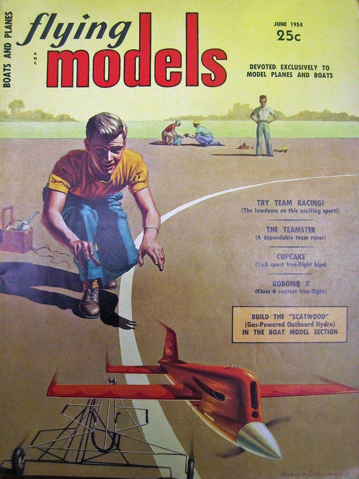 Vintage Flying Models Magazine June 1954 | Vintage