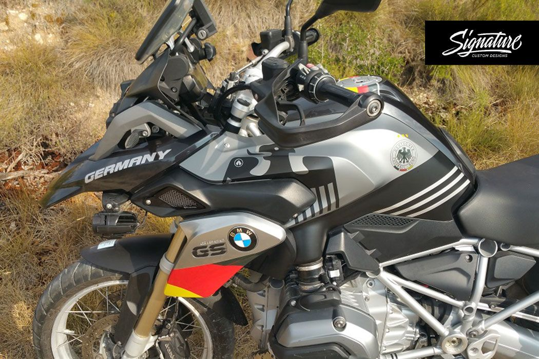 Bmw R1200gs Lc Thunder Grey Metallic Germany Stickers Kit Signature Custom Designs Bmw Custom Design Style Kit