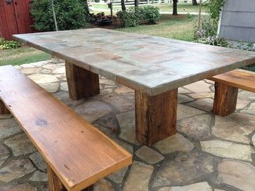 Reclaimed Slate Design Ideas Pictures Remodel And Decor Tile Patio Table Backyard Table Decor