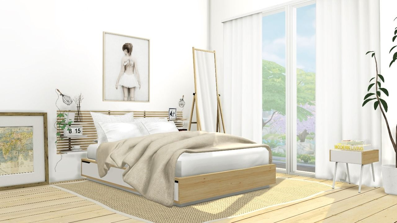 IKEA Mandal Bedroom Set by MXIMS  Sims 7 bedroom, Sims 7 beds