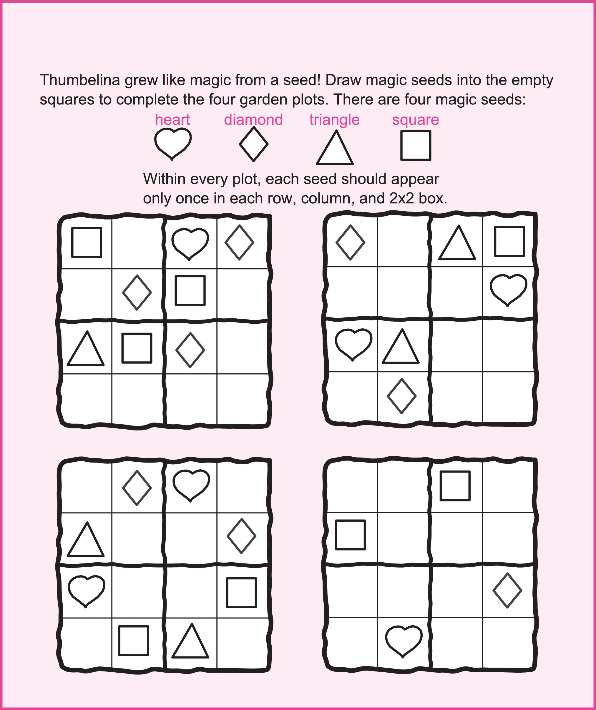 Magic Seeds Fairy Puzzles And Activities For Kids