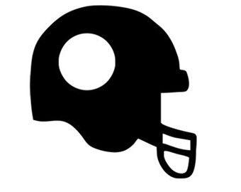 football helmet monogram frame svg dxf file instant ...