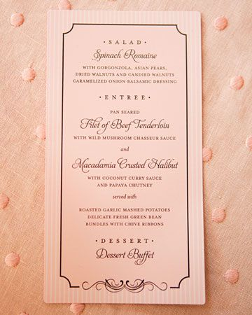 Best Wedding Menu Cards From Real Celebrations Wedding Pinterest