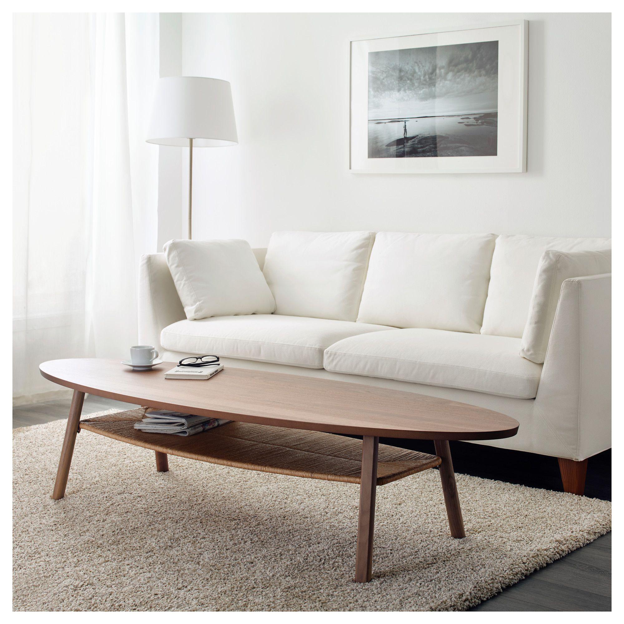 STOCKHOLM Coffee table walnut veneer 70 7/8x23 1/4