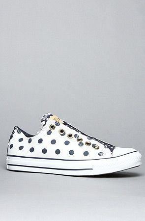 ca53a6fd9863af The Bleach Polka Dot Chuck Taylor All Star Slip Sneaker in White and Navy  by Converse at karmaloop.com